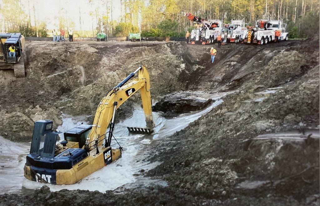 Recovery Of Excavator
